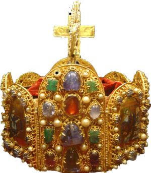 The crown of the Holy Roman Empire in the Vien...