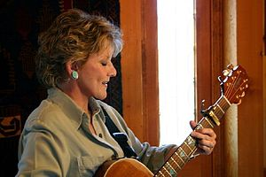 English: Lacy J. Dalton, American singer, in h...