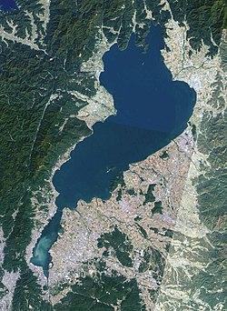 Image satellite du lac Biwa