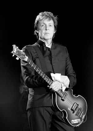 Paul McCartney live in Barton, England on June...