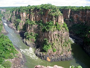 The Zambezi River near Victoria Falls