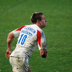 Jonny Wilkinson with English team Newcastle Fa...