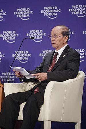 Burmese President Thein Sein at the 2010 World...