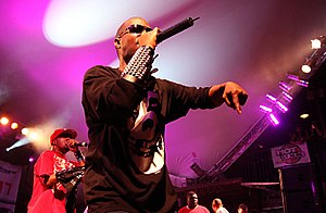 English: DJ Paul and Juicy J of Three 6 Mafia