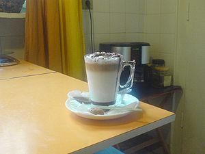a Caffè Mocha. with milk, Arabica Mocha espres...