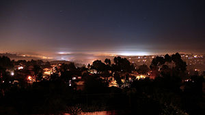 A night shot of Carlsbad CA. Looking Southwest...