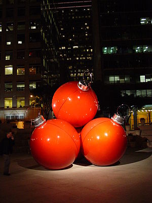 Christmas decorations Downtown San Francisco S...