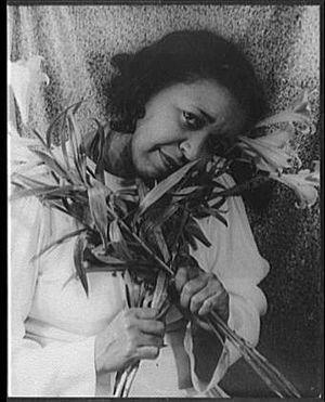 English: american singer & actress Ethel Water...