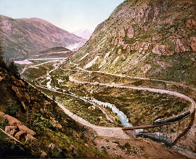 The far-famed Georgetown loop of the Colorado ...
