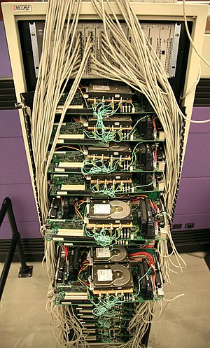 Google's first production server rack, circa 1999