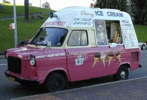 Ice cream truck in Sydney, Australia
