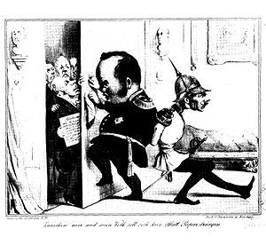 Karikatur auf einen Ausspruch Friedrich Wilhel...