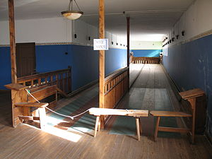 English: Bowling alley in the Ghost town of Ko...