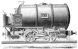 Compressed air locomotive