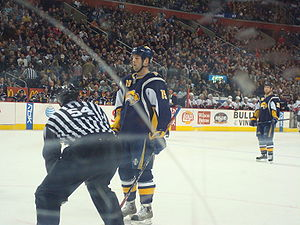 Tim Connolly gets ready to take the face off i...