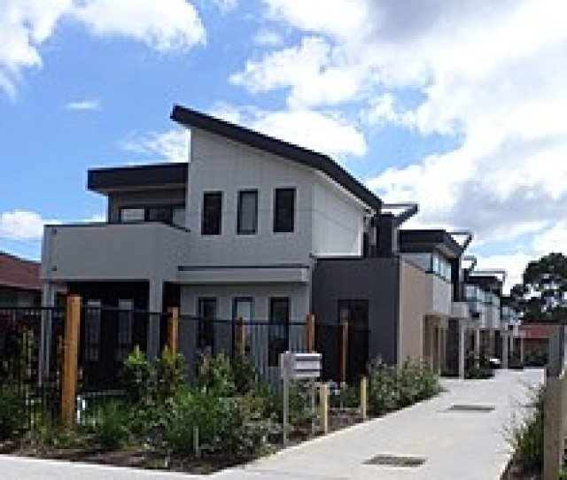 A Photograph Of Townhouses In Victoria Australia