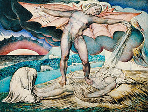 William Blake - Satan Smiting Job with Sore Bo...