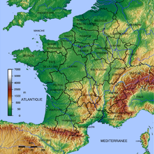 Outline of France   Wikipedia An enlargeable topographic map of Metropolitan France