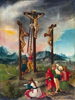 Crucifixion of Christ by Albrecht Altdorfer, 1526