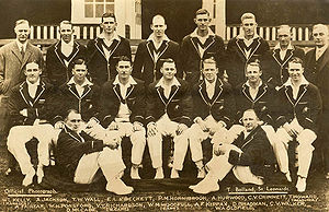 Official photo of 1930 Australian cricket team...
