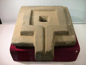 A stone yoni found in Cát Tiên sanctuary, Lam ...