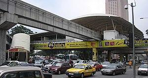 The Chow Kit station (Kuala Lumpur Monorail) (...