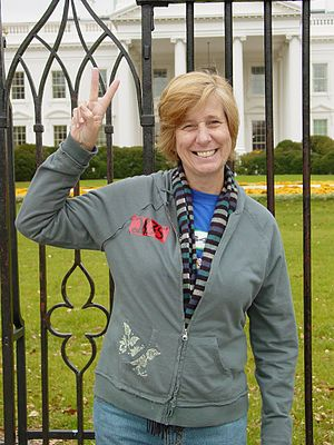 Cindy Sheehan at White House