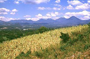 Cordillera de Apaneca mountain range in El Sal...