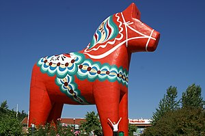 The world's largest Dalecarlian Horse, made of...