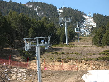 Ski Resort Els Angles, France.
