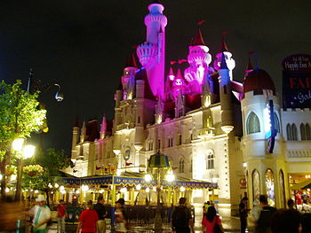 English: The Far Far Away Castle at Universal ...