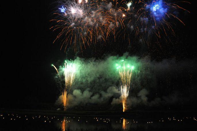 Fireworks over the Kitakami River