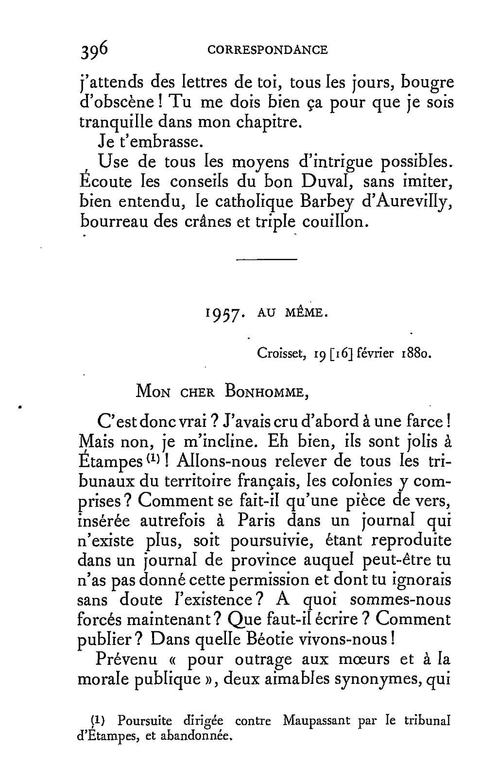 flaubert edition conard correspondance