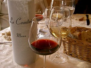 French wines are usually made to accompany food.