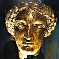 Gilt Bronze Head of the Goddess Sulis Minerva