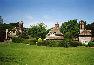 English: Henbury: Blaise Hamlet. Three of a se...