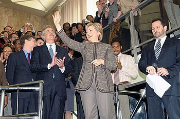 Secretary of State Hillary Clinton arrives at ...