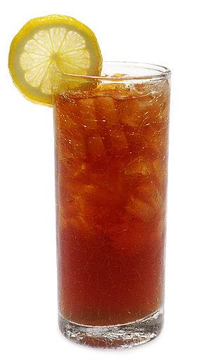 Iced tea, popular throughout the U.S.