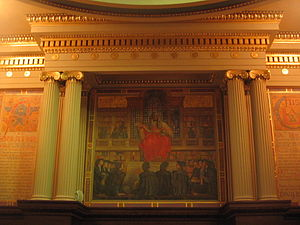 Painting in the Supreme Court chamber in the P...