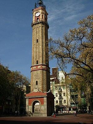 Square Rius i Taulet in Gracia - Barcelona (Ca...