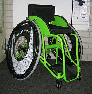 English: A Colours Zephyr wheelchair suitable ...