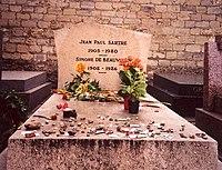 Tombe de Jean-Paul Sartre et Simone de Beauvoir