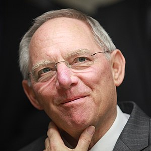 Wolfgang Schäuble, German finance minister (CD...