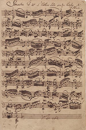 Sonata for single violin #1 in G minor BWV 100...