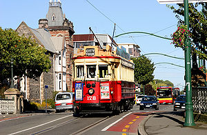 Brill tram No 178 on the Christchurch Tramway