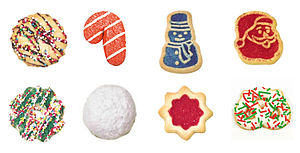 English: Christmas cookies (Left to right, top...