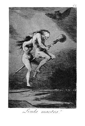 Francisco Goya's Los Caprichos: ¡Linda maestra...