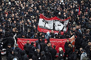 English: Neonazi demonstration in Leipzig, Ger...