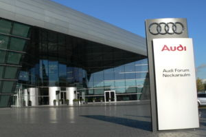 Audi-Forum of the Audi AG in the City Neckarsu...