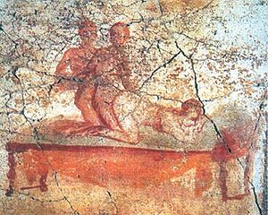 Another Pompeii brothel fresco